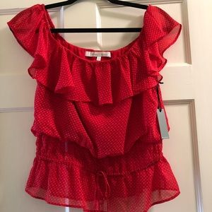Lovers + friends off the shoulder red top - NWT!